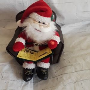"Santa reading ""Twas the night before Christmas"""